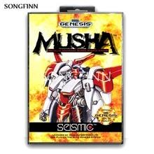 Genesis megadrive musha 용 sega mega drive 용 상자가있는 16 비트 md 메모리 카드