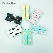 Relax Toy Cube Infinity Cube Anti Stress Autism Toys Infinity Stress Reliever Flip Cubes Puzzle Relaxing Toy adults office Gift(China)