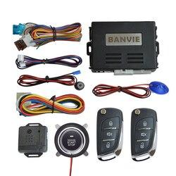 BANVIE bezkluczykowy dostęp do pojazdu System alarmowy z zdalny rozrusznik i Push  aby rozpocząć zatrzymanie zapłonu komplet przycisków