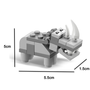 Image 5 - Animal world  12 in 1 Building Block Brick Set Elephant Lion Compatible Lepining  Constructor Educational Toy for Children