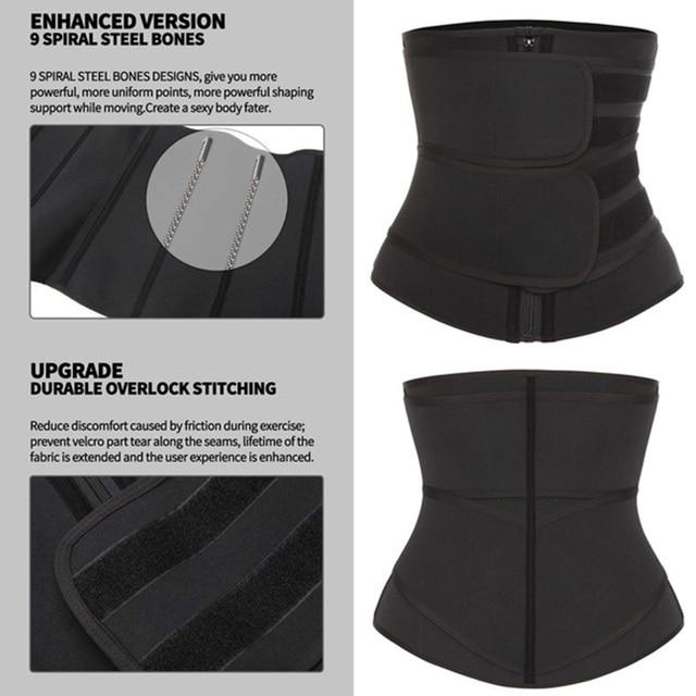 Neoprene Sauna Waist Trainer Corset Sweat Belt for Women Weight Loss Compression Trimmer Workout Fitness 3