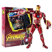 16cm Super Hero Iron Man MK50 PVC Action Figures Avengers Infinity War Ironman Mark 50 Collectible Model Toys Gift for Children