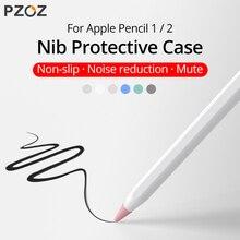 PZOZ 8pcs Protective Case For Apple Pencil 1 2st Silicone Protector Case For Apple Pencil2 Pen Point Stylus Penpoint Cover Case