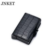 JNKET New Men RFID Blocking Wallet Credit Card Holder PU Leather