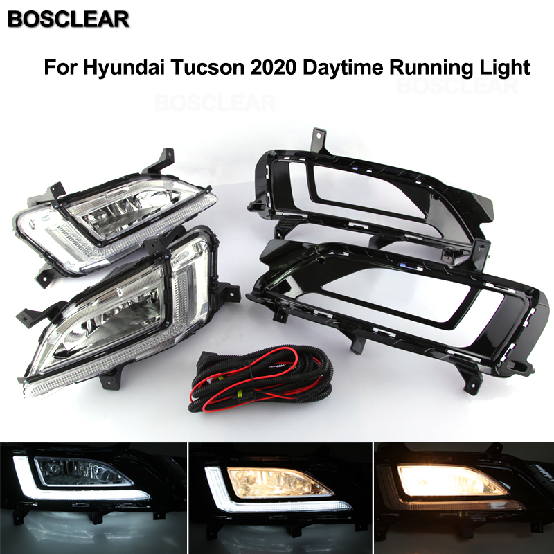 For Hyundai Accent 2018 2019 2x LED Daytime Day Fog Lights DRL Run lamp New
