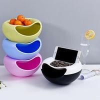 플라스틱 과일 접시 사탕 간식 너트 멜론 씨앗 그릇 더블 레이어 사탕 접시 다기능 과일 접시 홈 주방 용품|디시 & 플레이트|홈 & 가든 -
