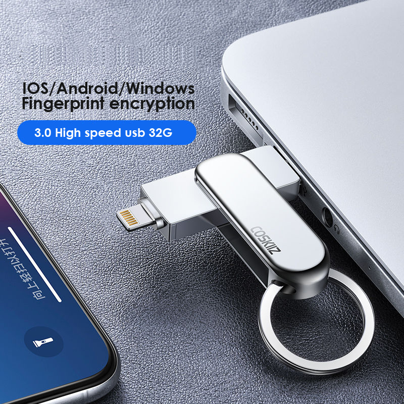 32g Usb Flash Drive pendrive For iPhone 6series/7/7Plus/8/X Usb/Otg/Lightning 2 in 1 Pen Drive For iOS External Storage Devices|USB Flash Drives| |  - title=