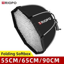 Triopo 55cm 65cm 90cm 120cm Speedlite Portable Octagon Umbrella Softbox + Honeycomb Grid