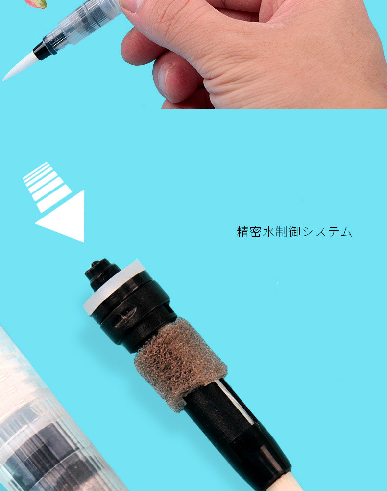 Hda4bc3ec365644b9ac4d7754cb0ea273q - 1PC Portable Paint Brush Water Color Brush Pencil Soft Watercolor Brush Pen for Beginner Painting Drawing Art Supplies