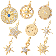 Earring Necklace Bracelet Jewelry Cz-Accessories Zircon Star Charms Pendant Diy Making-Supplies