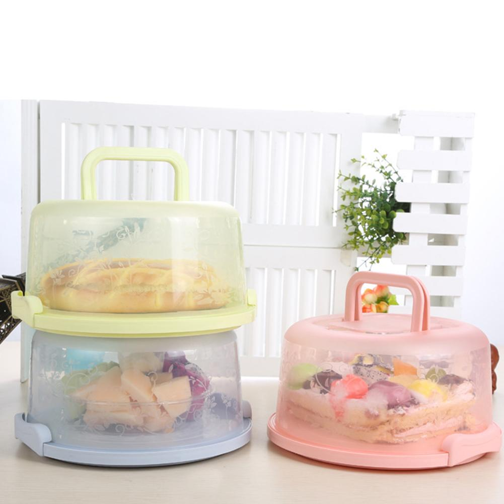 New 1PC Portable Lightweight Round Birthday Cake Dessert Fruit Storage Carrier Box Container Case