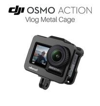 ULANZI OA 1 อลูมิเนียมโลหะวิดีโอ Cage Mount สำหรับ DJI Osmo กล้อง Vlog ป้องกันกรณี Osmo Action อุปกรณ์เสริม