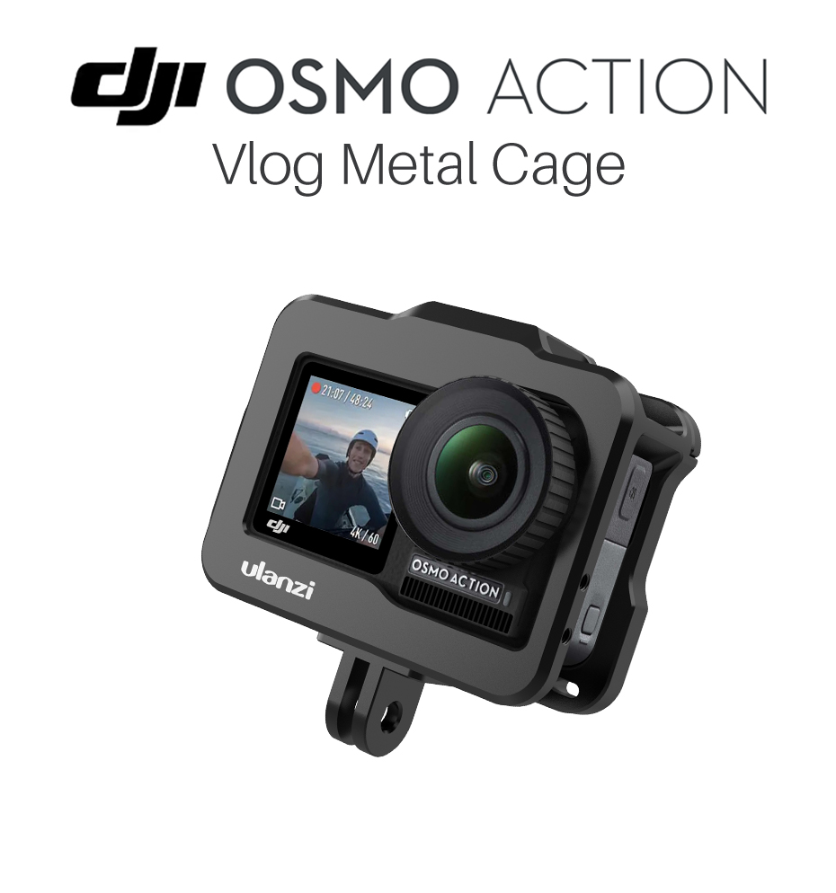 Ulanzi OA-1 Metal Cage With Cold Shoe For DJI Osmo Action  Housing Case Cover Protective Frame Shell Action Camera Accessories