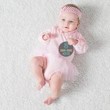 12 шт. стикеры по месяцам фотографии реквизит для новорожденных беременных женщин с четырьмя стилями дизайна узора уникальные особенности