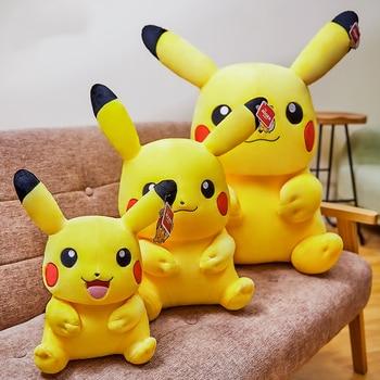 60CM Genuine Pikachu POKEMON Plush Toy DOLL Peluche TAKARA TOMY Pocket Monster Game Poké Action Figure Anime Model Toy For Kids недорого
