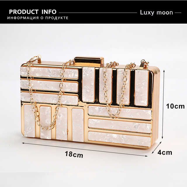 Acrylic Boxed Evening  Evening Clutch  3