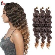 Leeons tanie głębokie Wave Twist szydełkowe włosy włosy syntetyczne do warkoczy Curl Wave Extensions dla czarnych kobiet Water Wave szydełkowe włosy