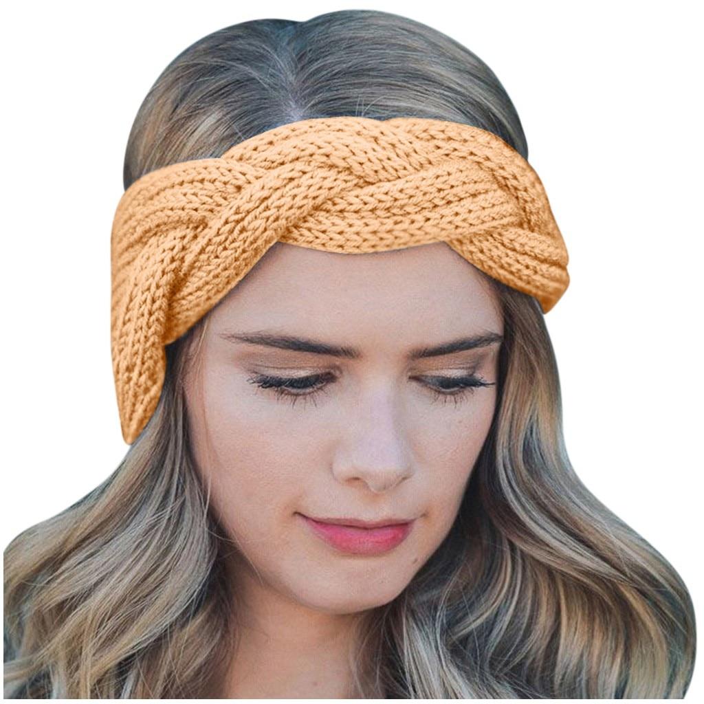 Fashion Women/'s Winter Warm Headband Wavy Hairband Hair Hoop Accessories