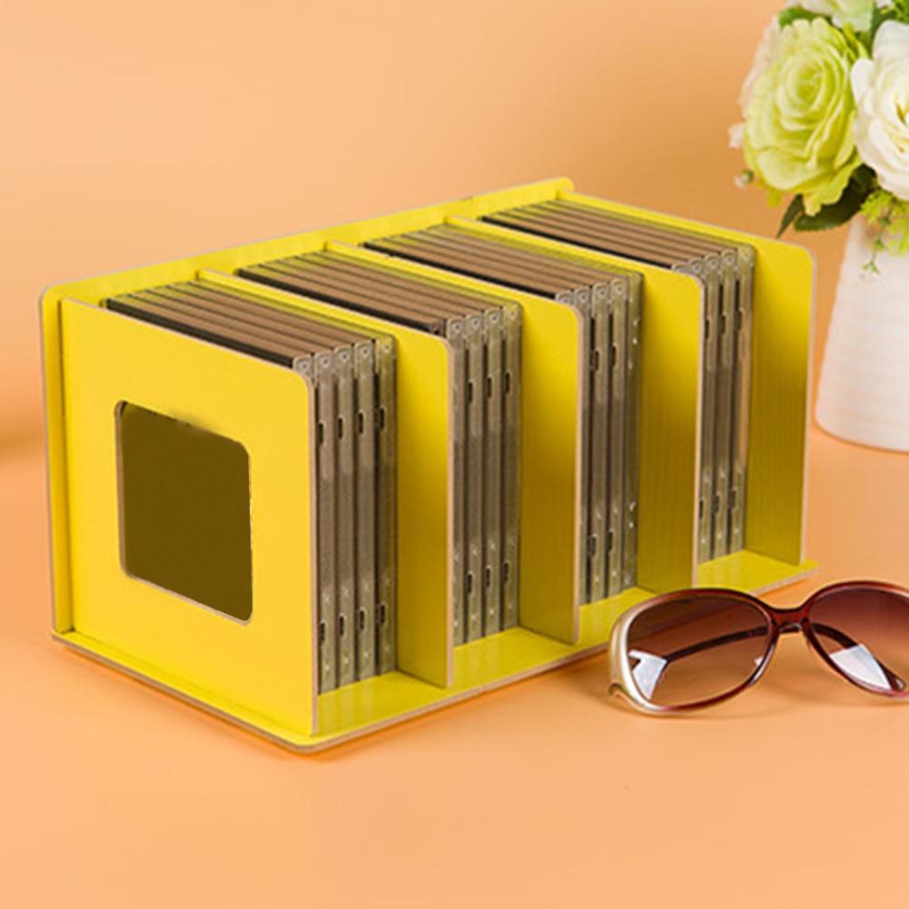 Простая многоярусная книжная полка 4 сетки оригинальная полка для хранения книжные мелочи DIY деревянный шкаф настольная подставка для книг домашняя детская книга