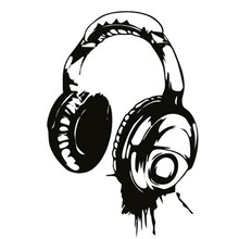 Best Headphones Music Dj Wall Stickers Art Design Wall Decal Wallpaper Decor Kids Bedroom Mural(China)
