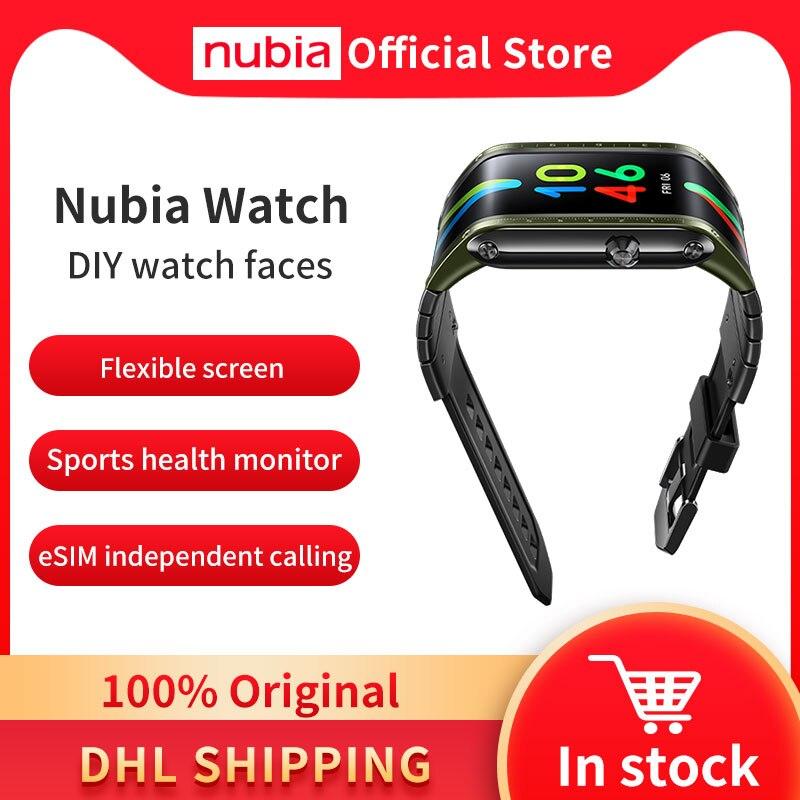 """Глобальная версия оригинальный Nubia Смарт-часы телефон 4,01 """"AMOLED Складная Snapdragon 8909W Bluetooth сотовый телефон Nubia часы-0"""