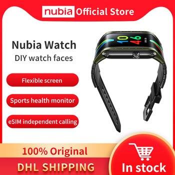 """Глобальная версия оригинальный Nubia Смарт-часы телефон 4,01 """"AMOLED Складная Snapdragon 8909W Bluetooth сотовый телефон Nubia часы"""