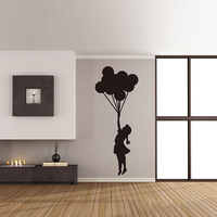 Balloons Wall Sticker Girl Banksy Decals Decorate All Kings of Rooms House Decoration