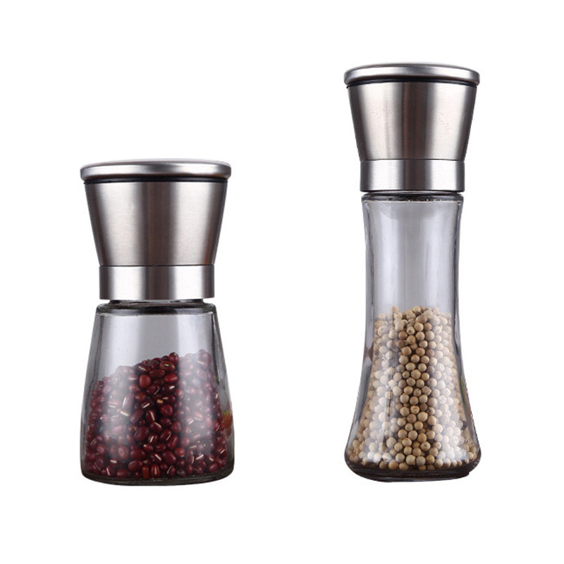 Manual Salt Pepper Grinder Mill Refillable Adjustable Grinder Spice Mill Kitchen Tools Portable|Mills| |  - title=