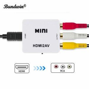 Image 4 - Bundwin MINI HDMI zu RCA AV/CVBS Composite Video AV Konverter Adapter HDMI2AV für TV VHS VCR DVD Hot verkauf
