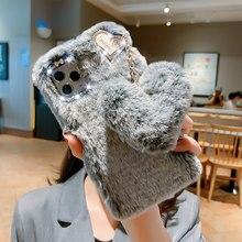 Śliczne miłość etui na telefon do Samsung Galaxy M21 M31 M51 A10 A40 A50 A70 A90 5G A01 A11 A41 A51 A71 A30S A21S A20E pluszowa, rozmyta, pokrywa