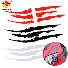 цены 40cm*12cm Car Reflective Monster Sticker Black/Blue/Red Scratch Stripe Claw Marks Car Auto Headlight Vinyl Decal Car Styling