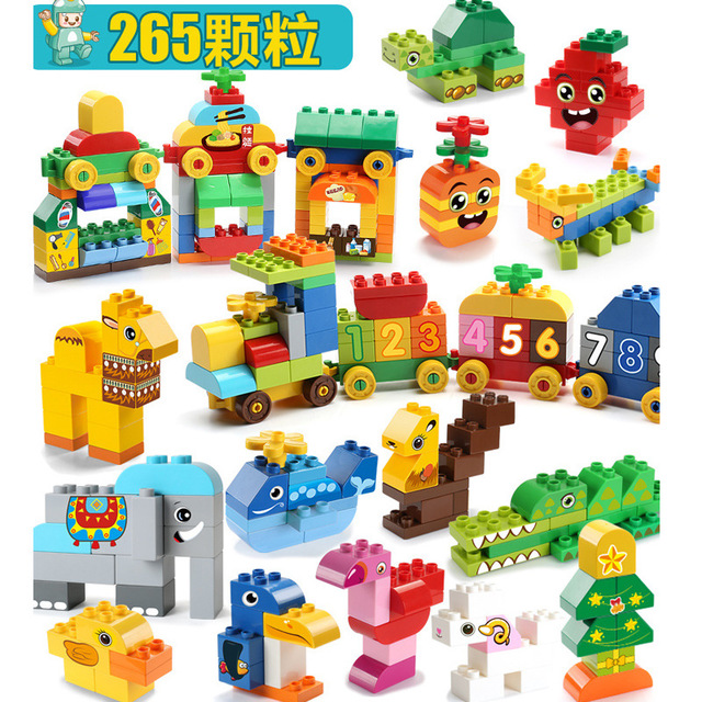 Toys Constructor Building-Blocks And 130pcs 256-Pcs Inserting Assembling Particle Educational