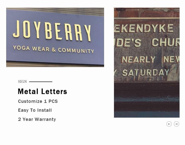 Metal Letter Sign (3)