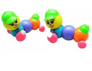 Baby Toy Colorful Spring Caterpillar Chain Toy Caterpillar Walk Twister Butt