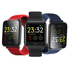 Q9 inteligentny zegarek mężczyźni kolorowy monitor TFT Fitness zegar ciśnienie krwi IP67 wodoodporna aktywność sportowa tętno Smartwatch Tracker tanie tanio GEFENSI CN (pochodzenie) Brak Na nadgarstek Zgodna ze wszystkimi 128 MB Krokomierz english Dożywotnio wodoodporne NONE