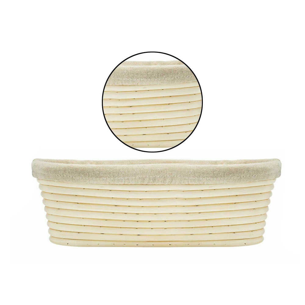 RONSHIN Tools /& Home for Baking Dry Basket Oval Shape Rattan Banneton Basket Bread Dough Proving Brotform Bowl Cloth Cover