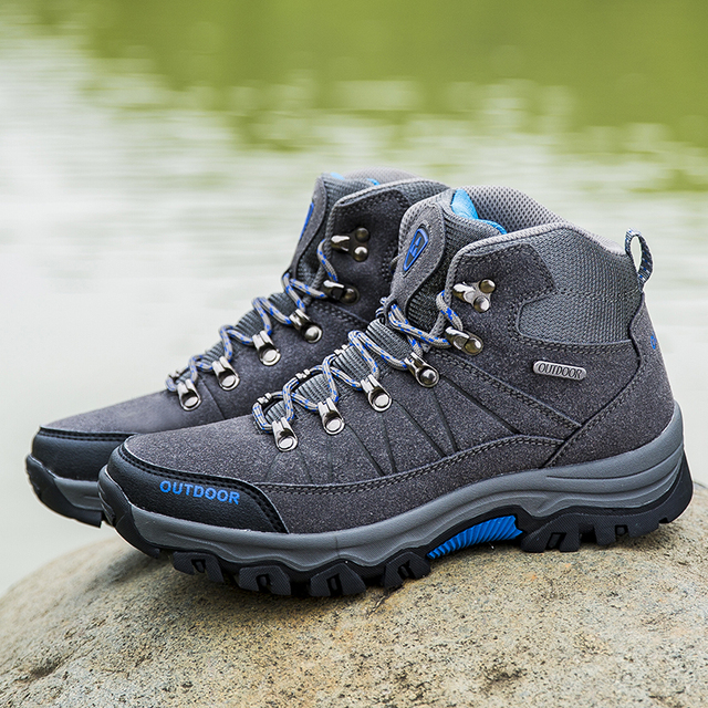 Men Hiking Shoes Waterproof Male Outdoor Travel Trekking Shoes Leather Climbing Mountain Shoes Hiking Hunting Boots Sneakers Man 5