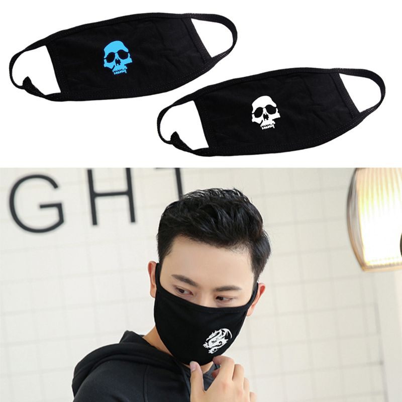 Adult Unisex Printed Cotton Anti Dust Mouth Face Mask Half Masks Cycling Outdoor