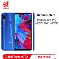 """Ufficiale Globale Rom Xiaomi Redmi Nota 7 6 GB di RAM 64 GB ROM Snapdragon 660 Octa Core 6.3 """"FHD + 48MP Doppia Fotocamera Del Telefono 4000 mAh"""