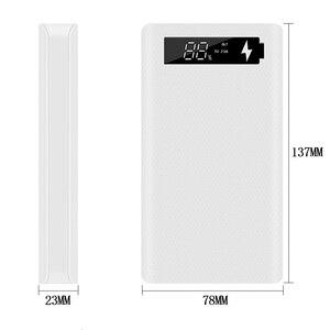 Quick Charge Версия 6*18650 Внешний аккумулятор чехол с двойным USB мобильный телефон зарядка QC 3,0 PD DIY корпус 18650 Держатель батареи Зарядка коробка