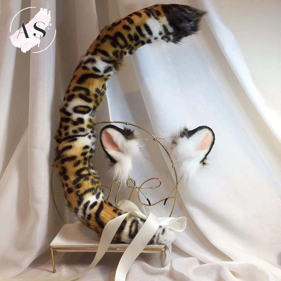 New Animal Handmade Tiger Ear Original Beast Ear Kc Simulation Beast Tail Wolf Ear Cat Ear Fox Ear Hairband Custom Cosplay