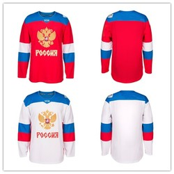 Team Russian white red mens Retro throwback Hockey Jersey Embroidery Stitched Customize any number and name