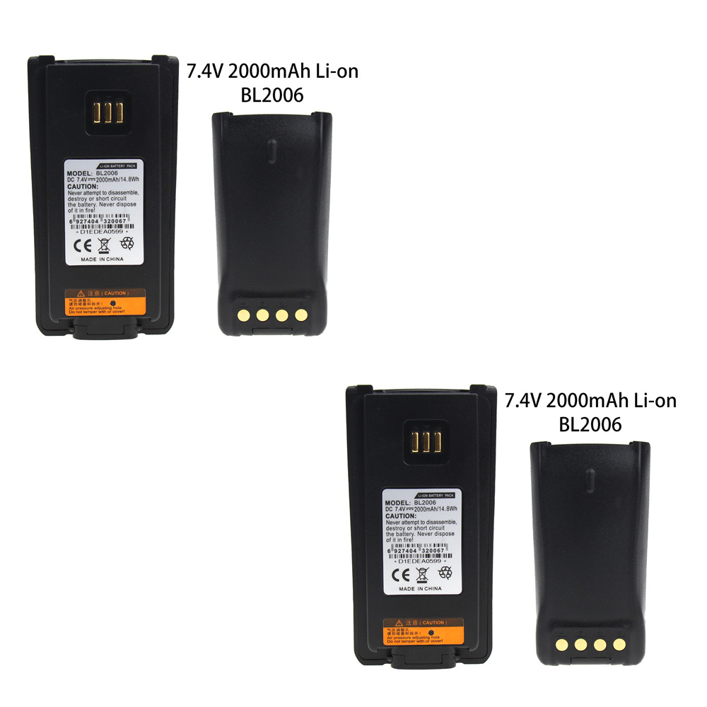2X BL2006 Replacement Two Way Radio Battery For Hytera PD700 PD780 BL2503 PD705 PD705G PD785 PD785G BL2006 Radio,2000mAh