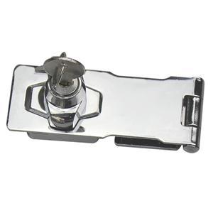Plating Self Locking Security Hasp Staple Lock 2.5/3/4 inch StainlessSteel 2 Key Cabinet Lock Drawer Padlock Door/Shed/Gate Lock