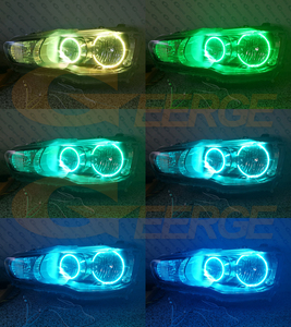 Image 5 - RF מרחוק Bluetooth APP רב צבע Ultra מואר RGB LED עיני מלאך ערכת עבור מיצובישי לנסר X 10 2007 2016 הלוגן פנס