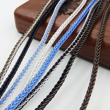 150cm 200cm DIY Headphone Audio Cable Wire 7N OCC Silver Plated Braided Cable