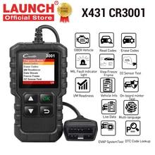 LAUNCH X431 CR3001 obd2 المهنية السيارات الماسح الضوئي OBDII رمز القارئ سيارة أداة تشخيص المحرك قبالة اللغة الروسية elm327