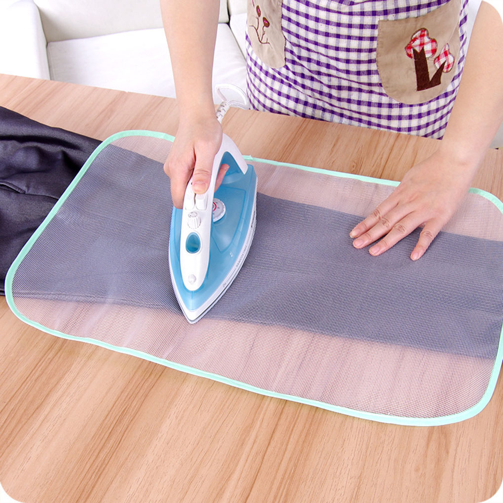 High Temperature Resistance Ironing Scorch Heat Insulation Pad Mat Household 2 Sizes Protective Mesh Cloth Cover image