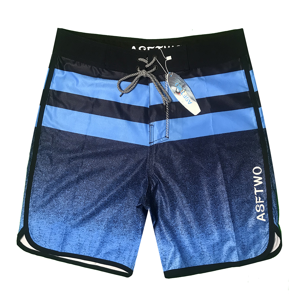 2020 New Quick Dry Striped Beach Shorts Men Waterproof Boardshorts Swimwear Plus Size Male Bandage Swimsuit Running Shorts