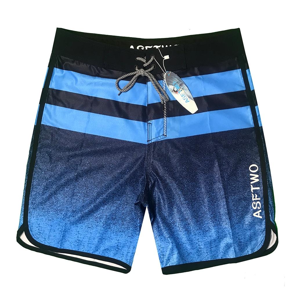 2020 New Quick Dry Striped Beach Shorts Men Waterproof Boardshorts Swimwear Plus Size Male Bandage Swimsuit Running Shorts